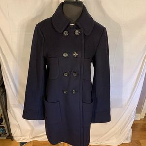 J crew women's wool and cashmere coat. 12